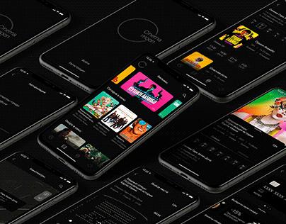 Cinema Moon App UX-UI Movie Tickets