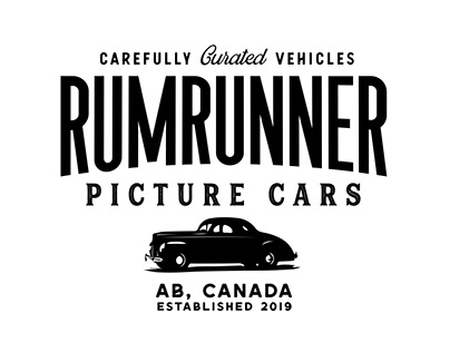 RumRunner Picture Cars Logo design