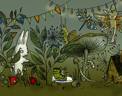 Happy fairy forest