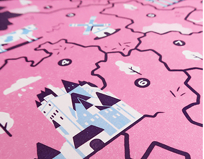 Germany map | Travel guide Illustrations