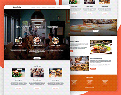 Panakeia — Single Page Restaurant PSD To HTML