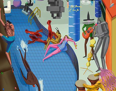 Illustrations for ArtBaazar