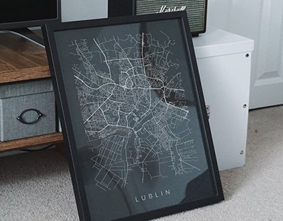 Lublin map poster
