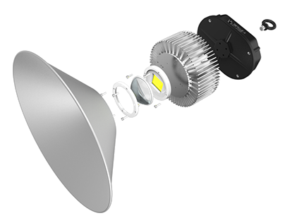 Apollo - led light product video, exploded view