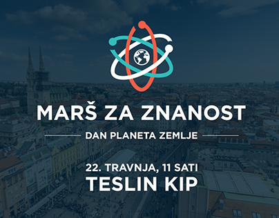 March for Science - Zagreb poster & materials