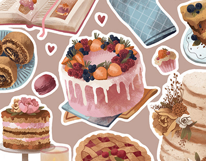 stickers for pastry shop