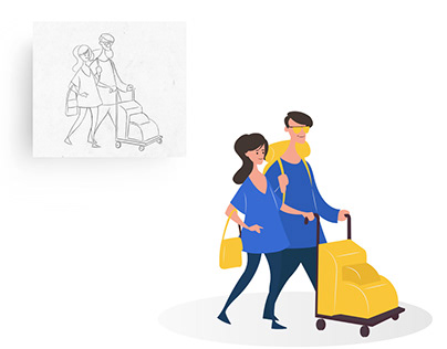 Custom Illustrations for Coach Direct