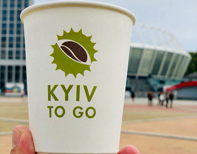 Identity and VIS for the takeaway coffee KYIV to GO