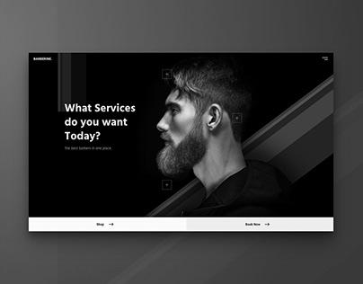 Landing page for Barbershop