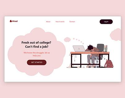 Job Portal Website Concept UI/UX Design