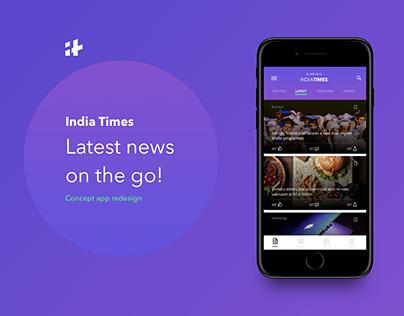IndiaTimes - App Redesign concept