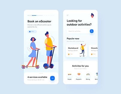 Outdoor Activities App UI Concept