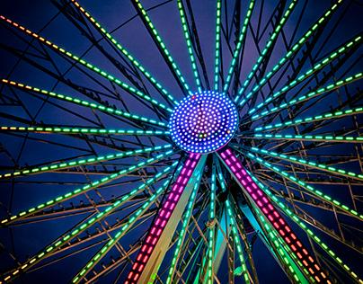 Beauty of Ferris Wheel Colours