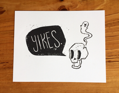 Yikes Relief Print