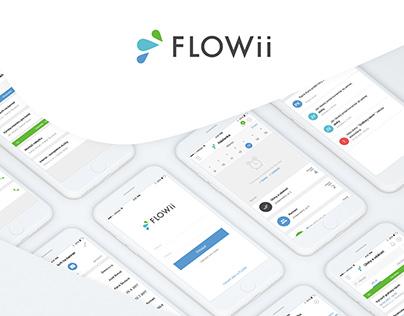 UI Design for FLOWii iOS app
