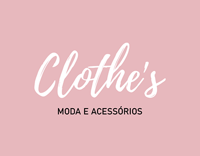 Clothe's - Moda online   Identidade visual