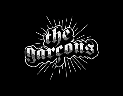 the garçons - logo X back patch