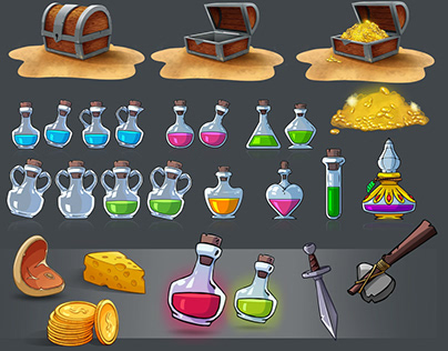 item game collection (potion. chest...)