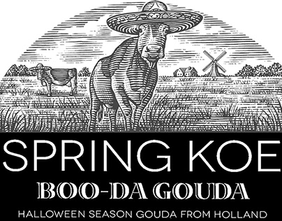 Spring Koe Cheese Labels illustrated by Steven Noble