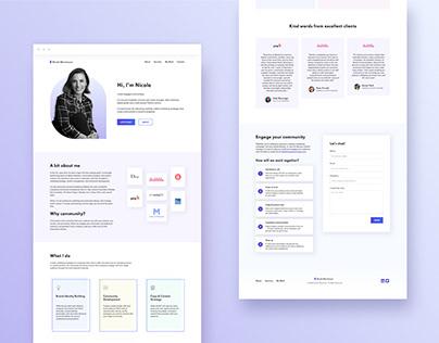 Page Design for Marketing & Community Freelancer