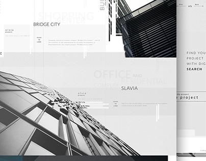 Web-design Building site concept