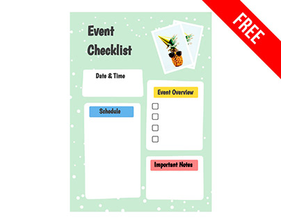 Event Checklist - free Google Docs Template