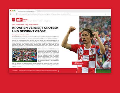 Concept Sport News Article // N-TV
