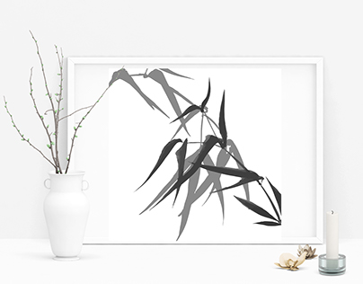 Bamboo - ink painting