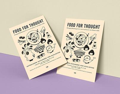 """Poster """"Food for Though"""" at Sir Nikolai, Hamburg"""