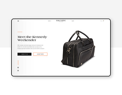 Website Design for Lifestyle Company - Oak & Rove