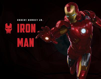 Marvel's Avengers. Web site concept