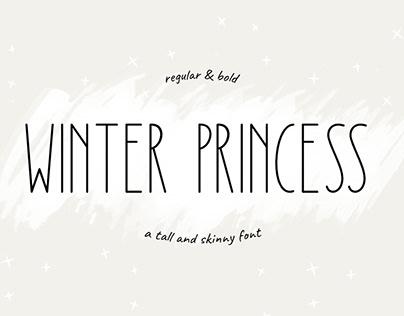 Winter Princess   Tall and Skinny Font