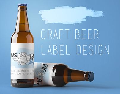 Beer label design (ENG)