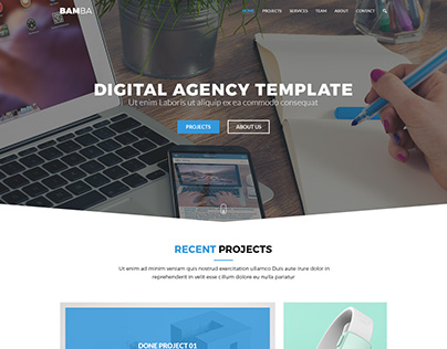 Bamba - One Page Clean Responsive Business Template