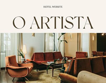 O Artista hotel website