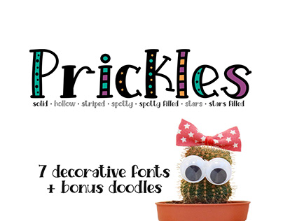 Prickles Font Collection