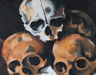 Oilpainting - skulls