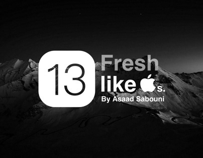 iOS 13 Concept : Fresh like Apples