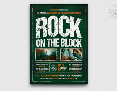 Rock Festival Flyer Template V1
