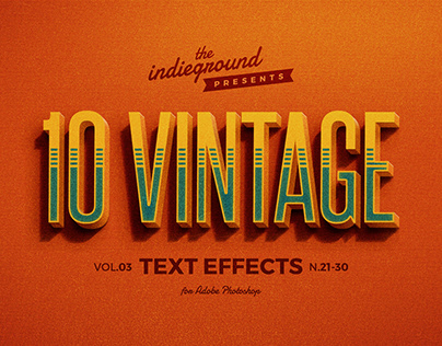 Retro/Vintage Text Effects Vol.3