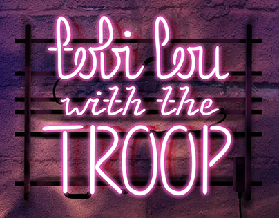 'TOBI LOU WITH THE TROOP' - single cover
