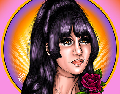 Digital Portrait: Cher 1960s