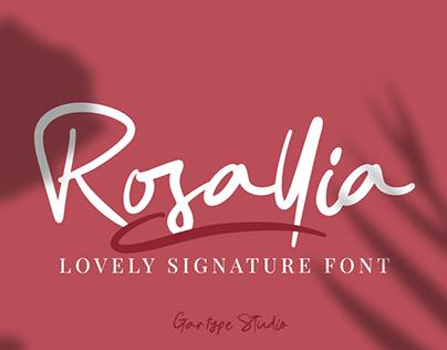 Rosallia GT - FREE FONT