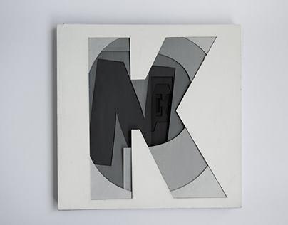 Typograficzna interpretacja wiersza Andrzeja Bursy