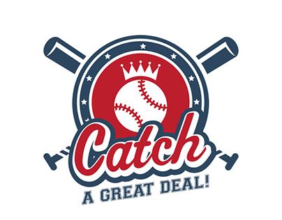 Baseball themed promotional logo design.