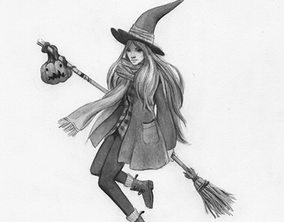 Inktober 1: Autumn Witch