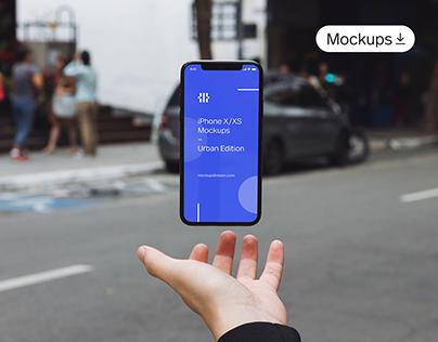 iPhone X/XS Mockup Bundle Urban Edition