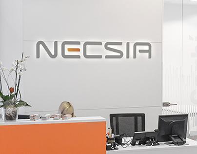 Señalética para las oficinas de Necsia