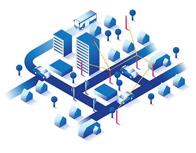 Blu Wireless Isometric Animations and Illustrations