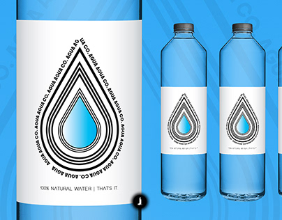 Agua Agua Co. | Water Bottle Package Design